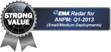 Strong Value. EMA Radar for ANPM: Q1-2013